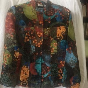 Last call Chico's shimmering floral jacket size0